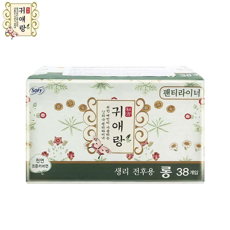 LG贵艾郎中草药加长版护垫17.5cm38片