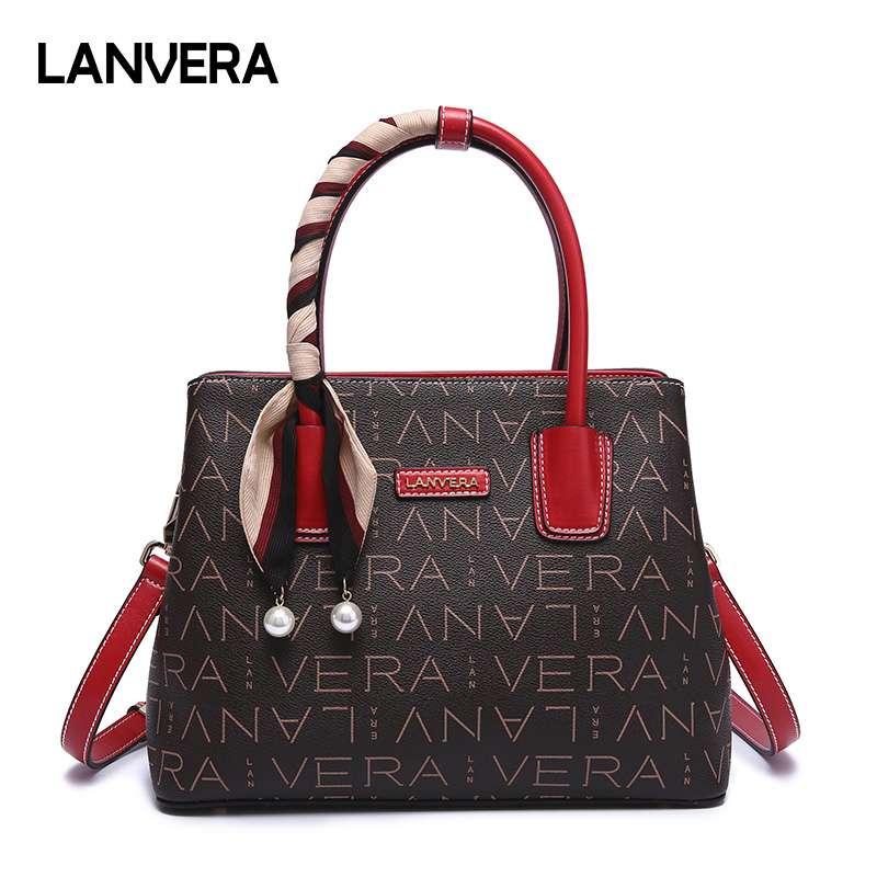 朗薇(lanvera)手提包大容量两用手拎斜挎女士包包【L8723】