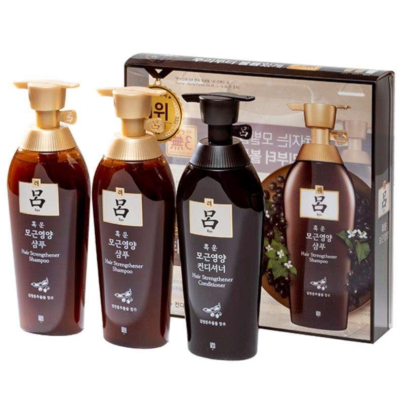 吕(Ryo) 棕吕  洗发两洗一护洗发水护发素套盒400ml*3