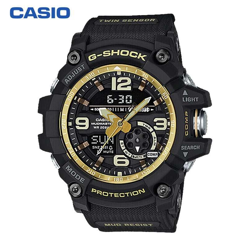 【限时让利】 卡西欧(CASIO)男士腕表 G-SHOCK 小泥王 男士防尘防泥温度感应指南针运动手表石英表 GG-1000GB-1A