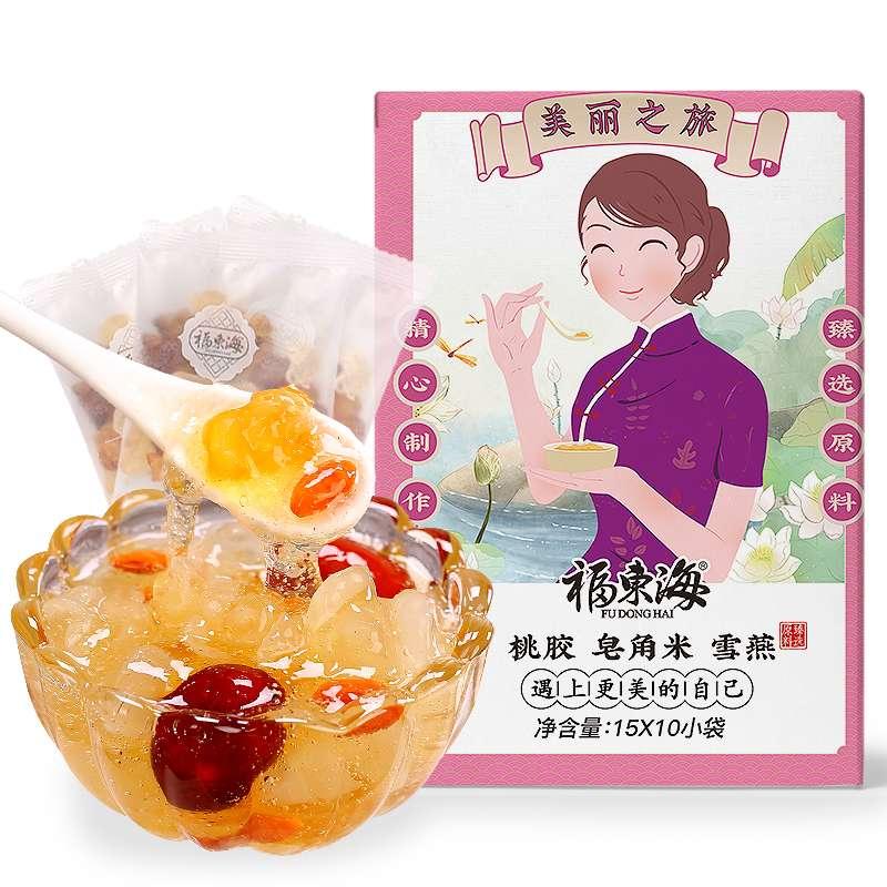 【福东海】桃胶雪燕雪莲子(15克X10袋)150克fdhtszh-150