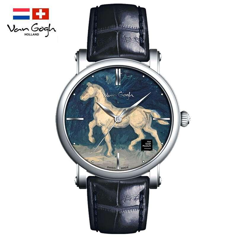 梵高(Vangogh)瑞士进口男士手表马的石膏像 Gent 10-1