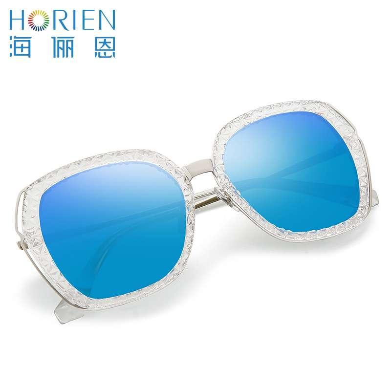 海俪恩太阳镜/女款N6526TD52透明框+梦幻蓝膜镜片