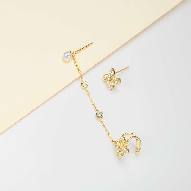 法国百年品牌奥利维拉 珍珠包金H-J6 坠入爱河耳钉