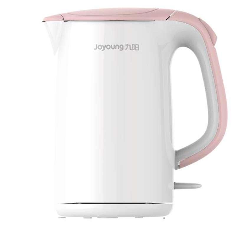 九阳(Joyoung)电热水壶烧水防烫开水煲电水壶304不锈钢1.7L K17-F802 白色