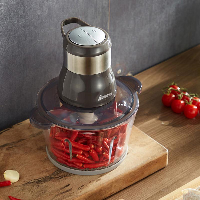 艾贝丽家用搅拌机绞肉机料理机大容量玻璃SD-JR68 白色 主杯容量(L) 2L