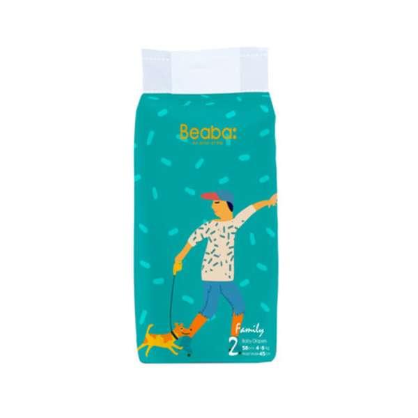 碧芭宝贝(Beaba)伐木累family系列纸尿裤*2包(S/M/L/XL)