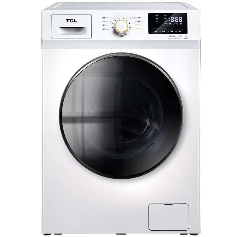 【618特惠】 TCL 10公斤 滚筒洗衣机 TG-V100HB 芭蕾白