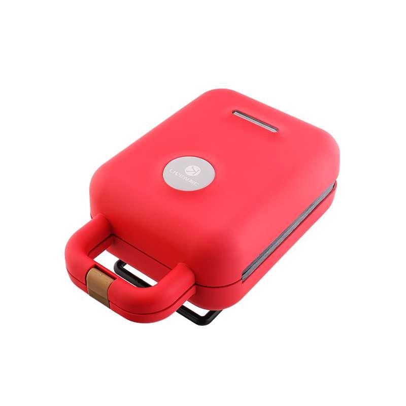 利仁(Liven)三明治机家用电饼铛早餐机华夫饼机迷你面包机轻食机 中国红LPSM-12