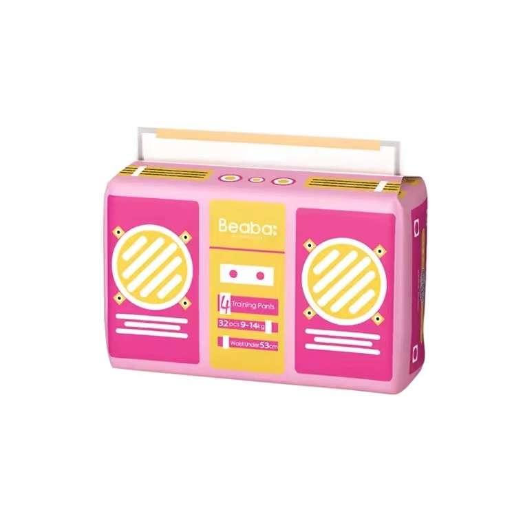 碧芭宝贝(Beaba)Baby Radio收音机系列拉拉裤*2包(M/L/XL/XXL/XXXL)
