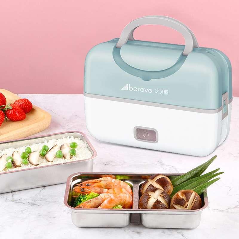 艾贝丽 (MD-666)电热饭盒上班族便携蒸煮饭带饭锅产品尺寸:240*130*170MM