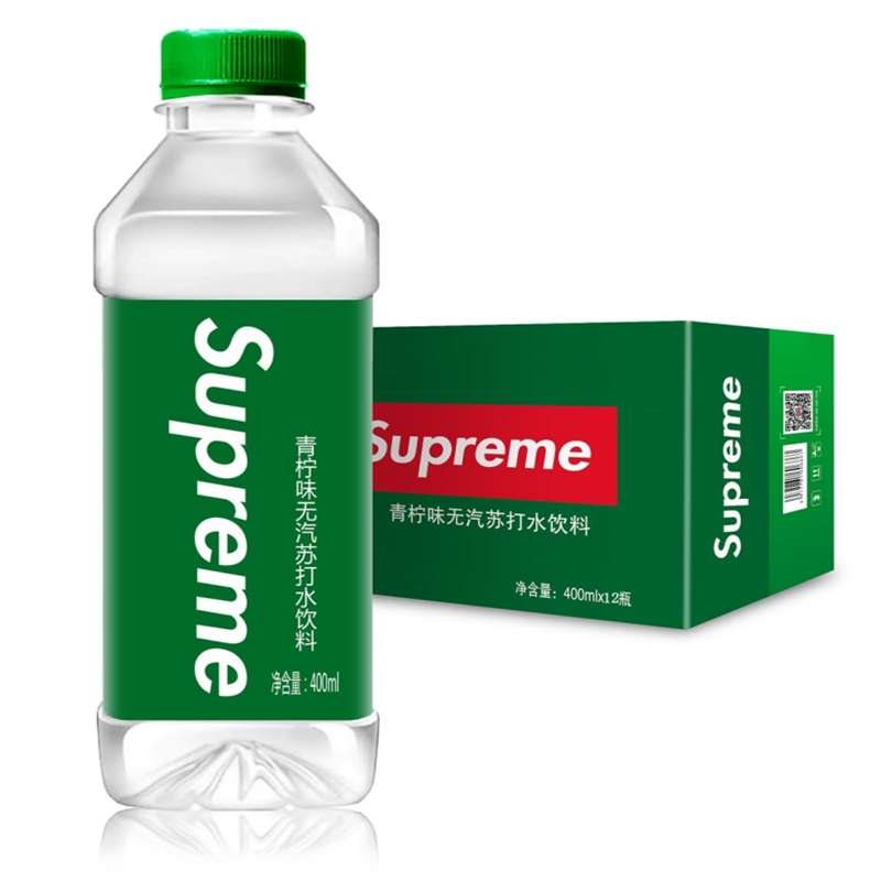 supreme青柠味苏打水饮料400ml*12瓶