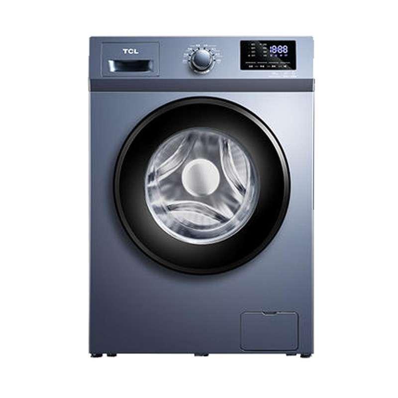 【618特惠】 TCL 10公斤大容量 洗烘一体 滚筒洗衣机 上排水 XQG100-P600HB(星云蓝)