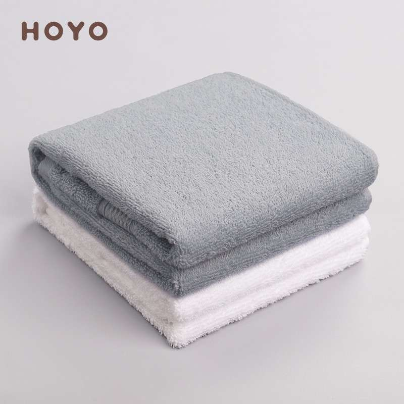 日本和风HOYO臻品长绒棉毛巾单条牛皮纸袋-中灰(33*72cm)