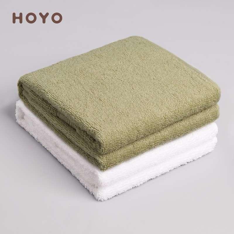 日本和风HOYO臻品长绒棉毛巾单条牛皮纸袋-草绿(33*72cm)